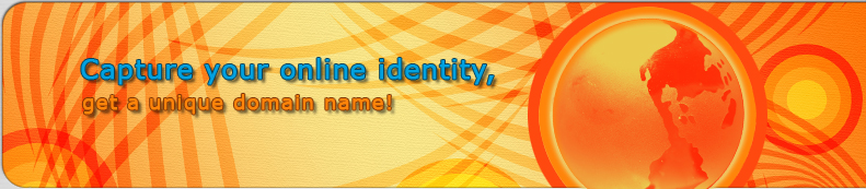 Capture your online identity, get a unique domain name!