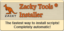 Zacky Tools Installer. The fastest way to install scripts. Completely automatic.
